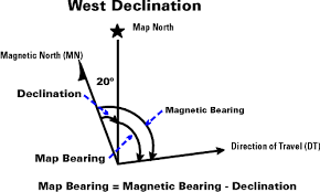 declination map oa guide to map compass part 2