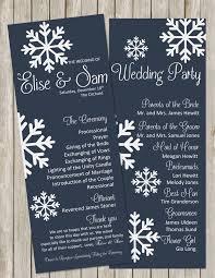 customized wedding programs best 25 winter wedding programs ideas on winter