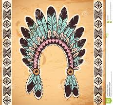 tribal native american feather headband royalty free stock photos