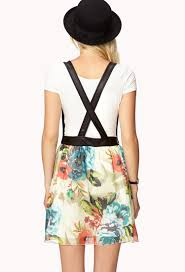 forever 21 edgy floral overall dress lyst