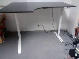 Galant Corner Desk Right Bekant Galant Sit Stand Corner Desk Hack Desk Hacks Ikea
