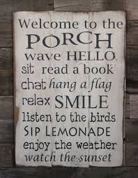 Quote Signs Home Decor by Large Wood Sign Welcome To The Porch Subway Sign Farmhouse
