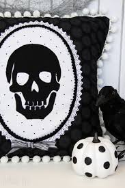halloween pillow spooky skeleton halloween pillow eighteen25