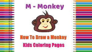 how to draw monkey coloring pages alphabets coloring pages