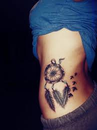 dreamcatcher side tattoos for girls gallery az tattoo designs