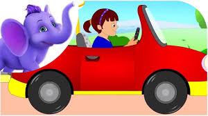 cartoon sports car side view driving in my car road version nursery rhyme youtube