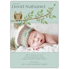 baby announcement wording goodnight owl photo birth announcements paperstyle