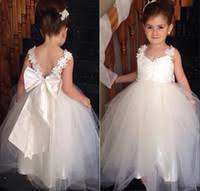 cheap white gown dresses for junior bridesmaid free shipping