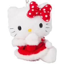 kitty christmas ornament mascot charm boa plush doll key