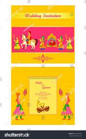 Winnie The Pooh Invitation Cards Vector Illustration Indian Wedding Invitation Card Stock Vector