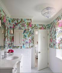 Bathroom Wallpaper Designs 40 Stylish Bathroom Wallpaper Ideas Inspirations Home Inspiring