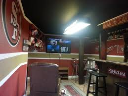49ers Home Decor One Of Our Customer U0027s 49ers Man Cave Sports Man Caves