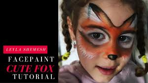 simple fox face paint painting kids daizy design 1 jpg coloring