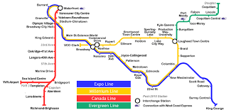 vancouver skytrain map vancouver by skytrain photo tour awesome photo tours