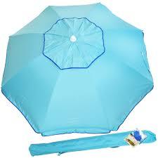 Beach Sun Umbrella Rio 6 5 Sun Blocking Vented Spf 100 Beach Umbrella With Sand