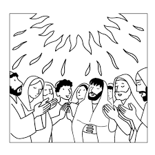 descent of the holy spirit coloring page catholic crafts with