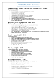 Resume For Customer Service Specialist Tech Support Customer Service Resume