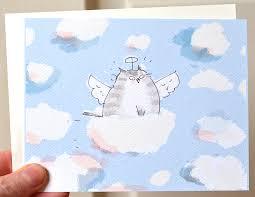 sympathy card angel cat cloud ride cat sympathy card the cat