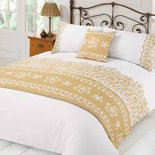 lace duvet cover with pillowcases runner bed in a bag set hannah