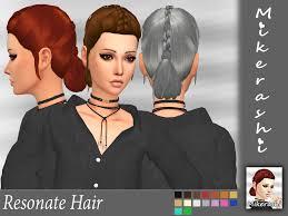 mikerashi resonate hair sims 4 hairs http sims4hairs com