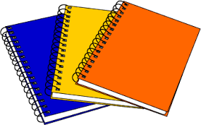 Image of three notebooks with different covers