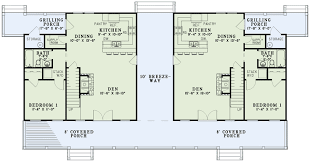 rustic duplex 60646nd architectural designs house plans