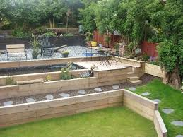 Gardens With Sleepers Ideas Garden Sleepers Uk Best Sleeper Retaining Wall Ideas On Steps