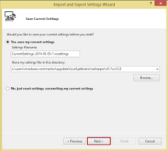 visual studio reset application settings change the default language to c for visual studio 2013
