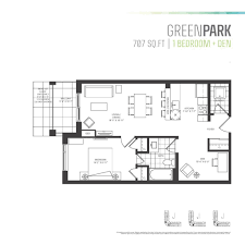parkcity u0027s one bedroom plus den floor plans are the perfect fit