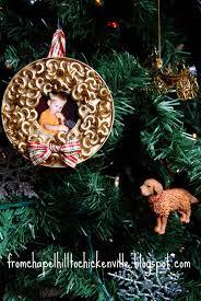 chickenville macaroni photo christmas ornament