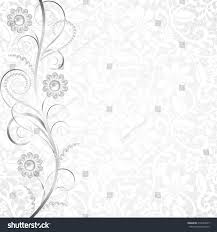 Invitation Card Border Design Jewelry Border On White Lace Background Stock Vector 210534829