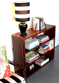 Bookshelf End Table Upholstery Basics Leather Bookshelf U2013 Design Sponge