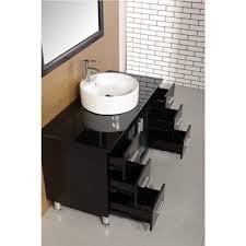 48 single sink bathroom vanity design element dec066c e malibu 48 inch single sink modern bathroom