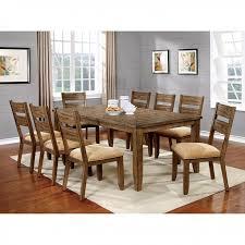 ava transitional light oak finish dining table set