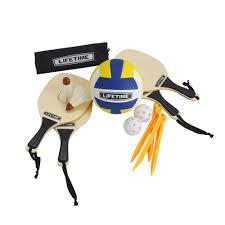 lifetime 3 sport volleyball badminton and pickleball game set