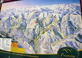 Ski Utah Map by The Canyons Trail Map Andrewcouncellmountainguide