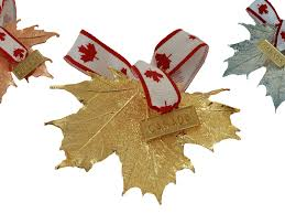 maple leaf ornament gold plated canada panabo sales