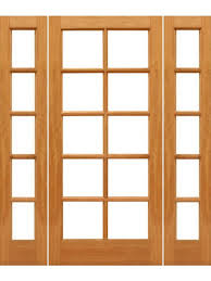 Patio Door With Sidelights 10 Lite French Brazilian Mahogany Wood Ig Glass Sidelights Door By
