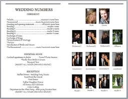 playbill wedding program wedbill a playbill like wedding program template program