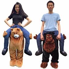 Riding Costumes Halloween 2016 Mascot Costume Unisex Cosplay Novelty Carry Ride