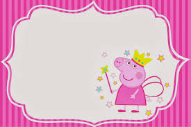 peppa pig birthday invitations card free invitations ideas