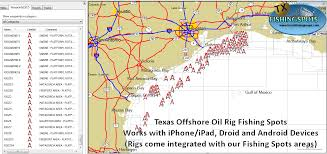 Galveston Map Texas Oil Rig Map With Gps Coordinatestexas Fishing Maps And