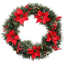 pre decorated christmas wreaths u0026 garland christmas