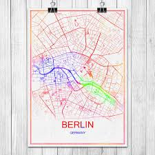 berlin germany world map modern colorful world city map berlin germany poster abstract