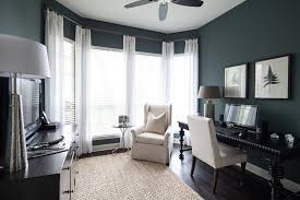 Home Office Paint Colors Before U0026 After Home Office With Dramatic Walls Heather Scott