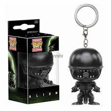 2017 new movie alien pop figure key chain alien pocket pop