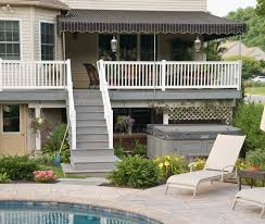 Patio Enclosures Buffalo Ny by Install Beautiful Shade By Your Pool Deck Awning Outdoor Living