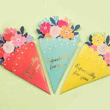 wedding gift greetings 3pcs diy flower greeting card wedding gift greetings christmas