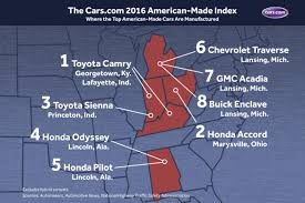 toyota 2016 models usa the 2016 cars com american made index news cars com