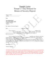 fillable online sample letter tenant u0026 39 s 7 day demand for